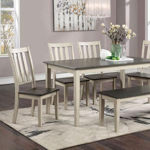 Frances Antique White Gray Table