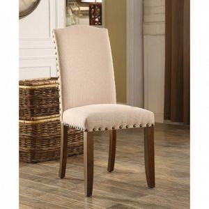 Brentford Espresso Beige Table Chair(2PK)