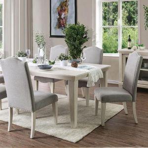 Daniella Antique White Gray Table