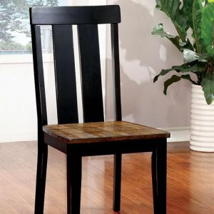 Alana Antique Oak Black Table Chair(2PK)