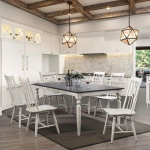 Ann Lee Antique White Oak Table