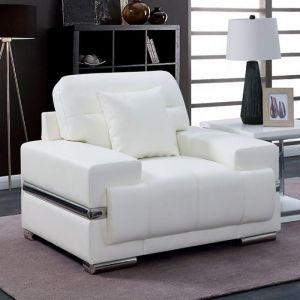 Zibak White Chrome Chair