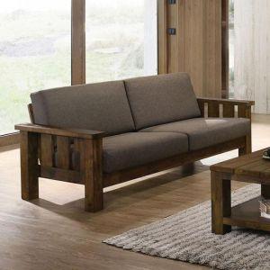 Laura Antique Oak Dark Brown Sofa