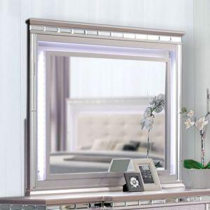 Claudette Silver Rose Mirror