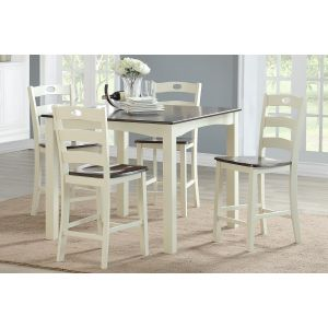 POUNDEX 5-PCS COUNTER HEIGHT DINING SET F2544
