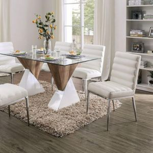 Binjai White Natural Tone Table