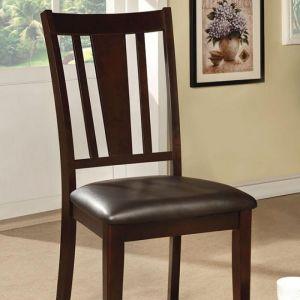 Bridgette I Espresso Table Chair(2PK)