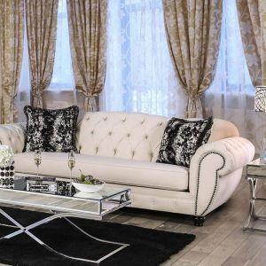 Gilda Beige Black Sofa
