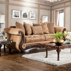 Nicanor Tan Gold Sofa