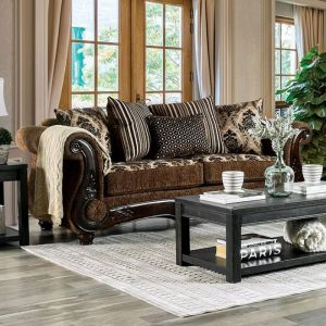 Tilde Brown Dark Walnut Sofa