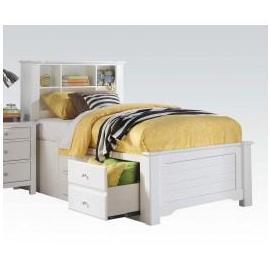 Mallowsea White w/ Storage Twin Bed