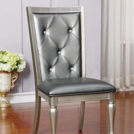 Sarina Silver Table Chair(2PK)