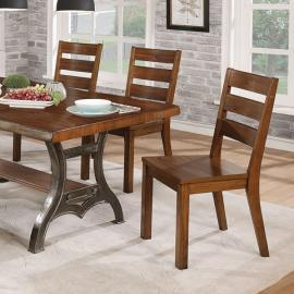 Leann Brown Cherry Dark Gray Table