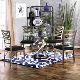 Roxo Silver Black Table