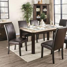 Faven White Dark Walnut Table
