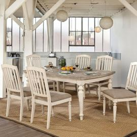 Summer Antique White Gray Table