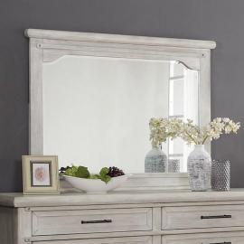 Shawnette Antique White Mirror