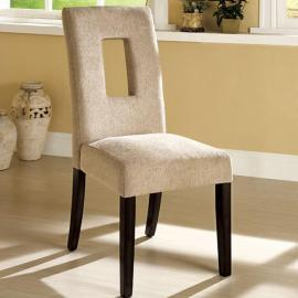 West Palm Beige Espresso Table Chair(2PK)